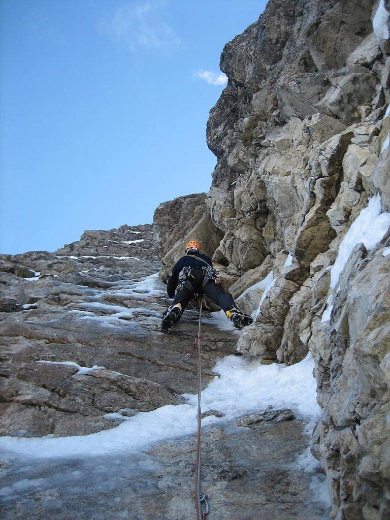 Escalada en hielo mixta