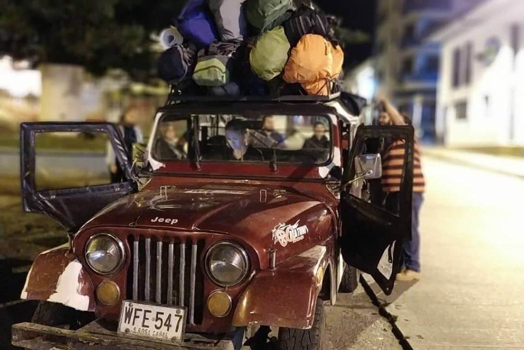La forma tradicional de llegar a Cocora